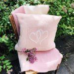 Hjertepute lys rosa