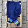 Ullbukse blå m/striper