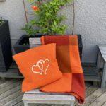 Hjertepute orange