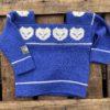 Blå barnegenser