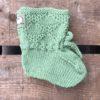 Babysokk grønn