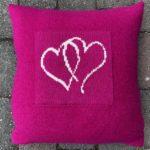 Hjertepute knall rosa