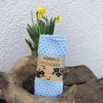 Lyse blått håndkle