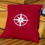 Kompass pute rød