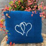 Hjertepute blå