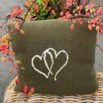 Hjertepute mosegrønn